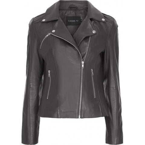 Sun Leather Jacket Black