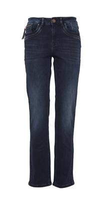 PZKarolina Highwaist Straight Dark Blue Denim