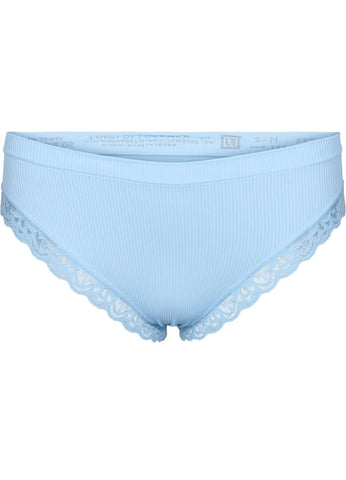 Rib Trusse m blondekant Light Blue