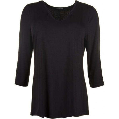T-shirt 3/4 ærme Black