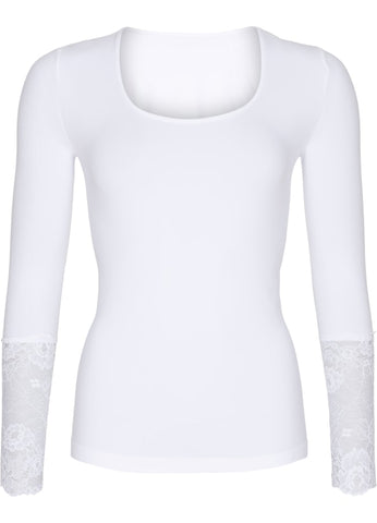 Long Sleeve Lace White