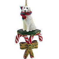 GREAT PYRENEES CANDY CANE ORNAMENT