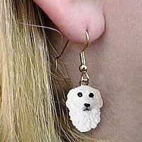 GREAT PYRENEES EARRINGS HANGING