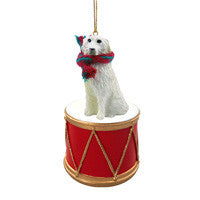 GREAT PYRENEES DRUM ORNAMENT