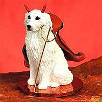 GREAT PYRENEES DEVILISH PET FIGURINE