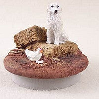 "GREAT PYRENEES CANDLE TOPPER TINY ONE ""A DAY ON THE FARM"""