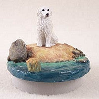 "GREAT PYRENEES CANDLE TOPPER TINY ONE ""A DAY ON THE BEACH"""