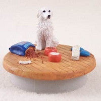 "GREAT PYRENEES CANDLE TOPPER  ""A DAY AT HOME"""