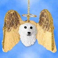 GREAT PYRENEES HANGING ANGEL ORNAMENT
