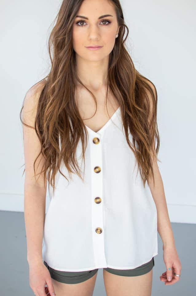 Button Down Tank | 13 Colors!-S-White-Shop-Absolute Paris Boutique-Womens-Clothing-Store