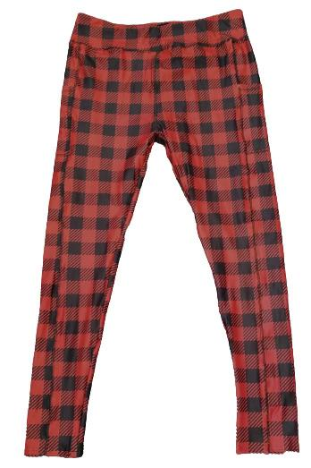 Buffalo Plaid Full Length Legging WITH pockets - Absolute Paris Boutique