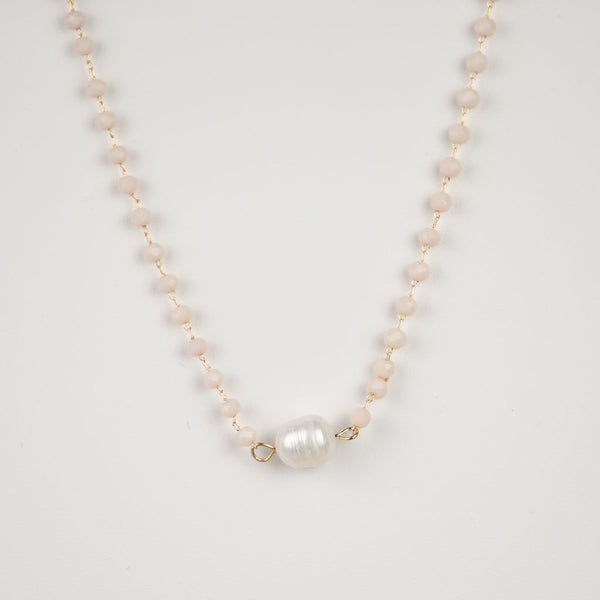 Mara Beaded and Fresh Water Pearl Necklace-Necklace-Shop-Absolute Paris Boutique-Womens-Clothing-Store