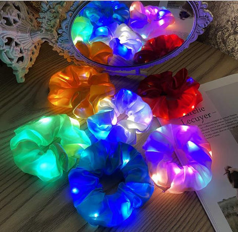 Light Up Scrunchies 5 Pack--Shop-Absolute Paris Boutique-Womens-Clothing-Store