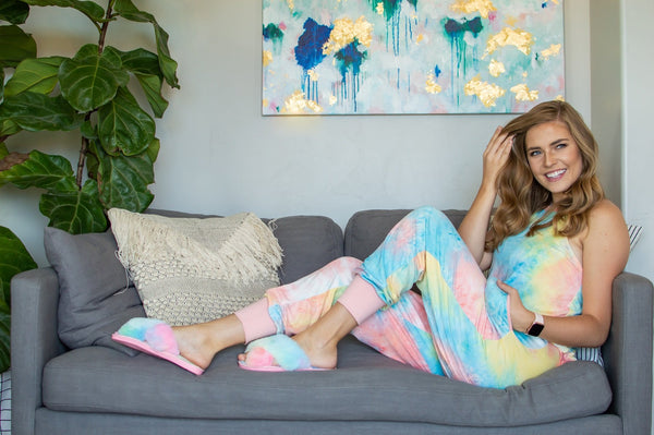 Seaside Tie Dye Lounge Set - Absolute Paris Boutique