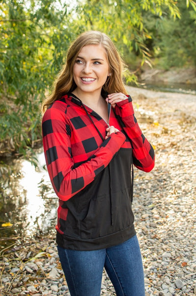 Buffalo Half Zip | Black and Red - Absolute Paris Boutique