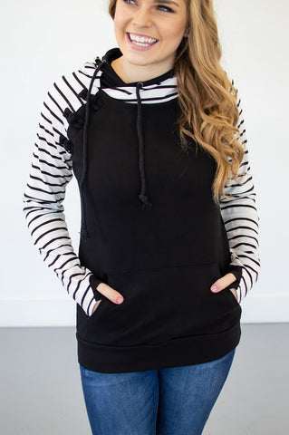 Original Remix Raglan Black-Hoodie-Shop-Absolute Paris Boutique-Womens-Clothing-Store