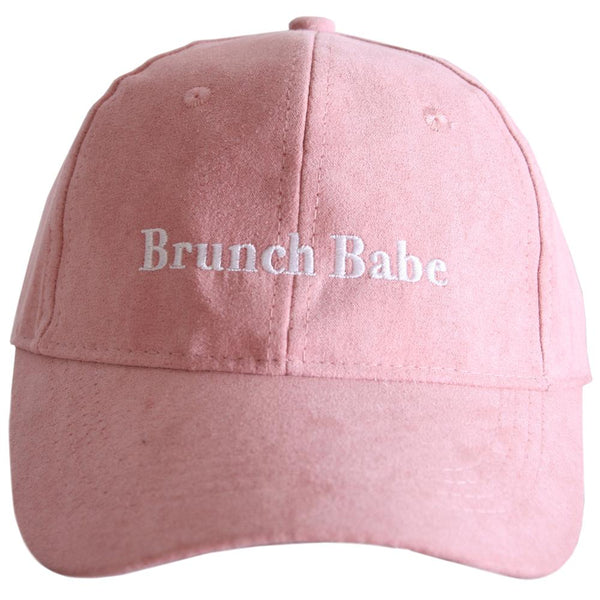 Brunch Babe Suede Hat-baseball hats-Pink-Shop-Absolute Paris Boutique-Womens-Clothing-Store