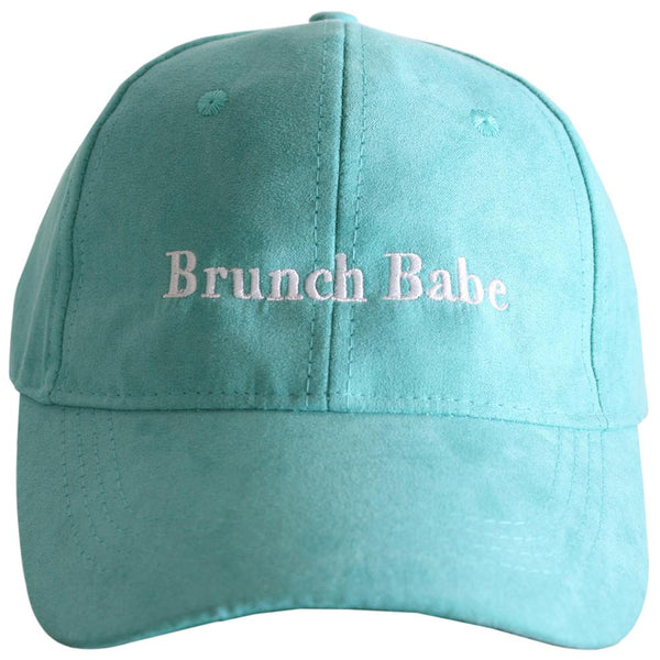 Brunch Babe Suede Hat-baseball hats-Teal-Shop-Absolute Paris Boutique-Womens-Clothing-Store