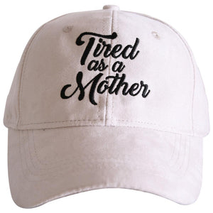 Tired As A Mother ULTRA SUEDE Baseball Hats-baseball hats-Cream-Shop-Absolute Paris Boutique-Womens-Clothing-Store