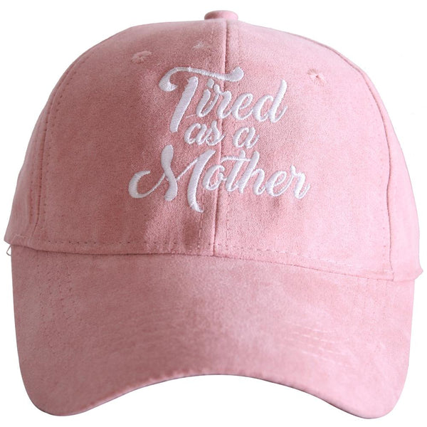 Tired As A Mother ULTRA SUEDE Baseball Hats-baseball hats-Pink-Shop-Absolute Paris Boutique-Womens-Clothing-Store