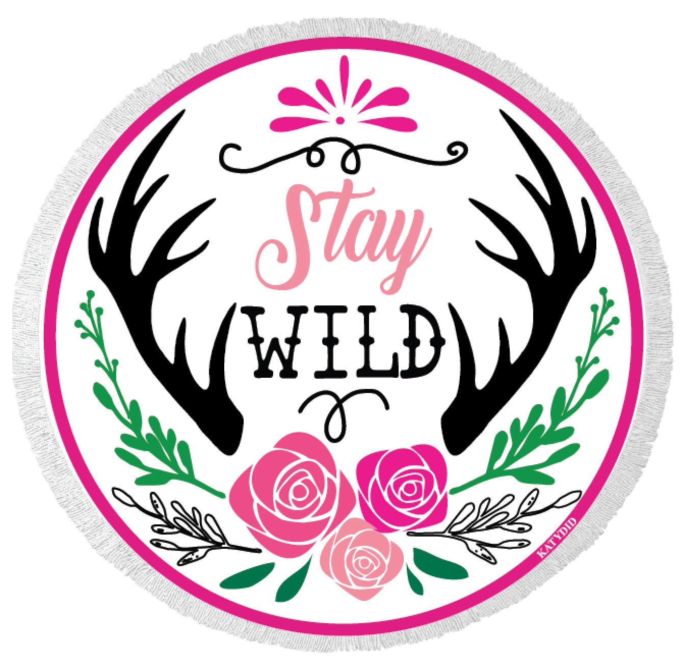 Stay Wild Round Beach Towel-Beach Towels-Shop-Absolute Paris Boutique-Womens-Clothing-Store