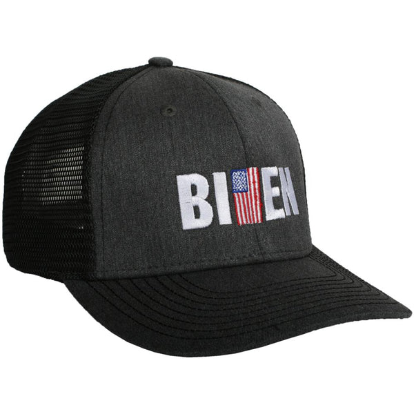 Biden w/ American Flag Men's Trucker Hat-men's hats-Shop-Absolute Paris Boutique-Womens-Clothing-Store