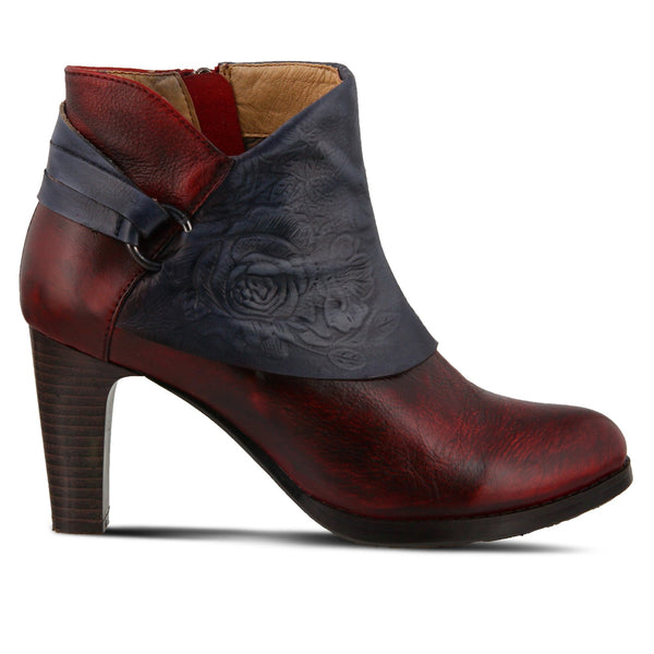 LORA BOOTIE DARK RED - Absolute Paris Boutique