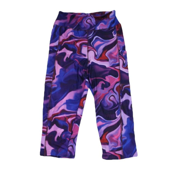 Marbleized Capri Legging with pockets-Capri-Shop-Absolute Paris Boutique-Womens-Clothing-Store