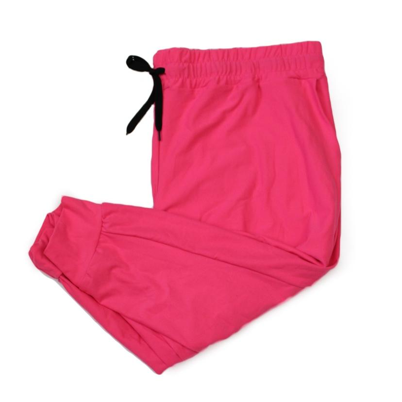 Hot Pink Capri Jogger - Absolute Paris Boutique