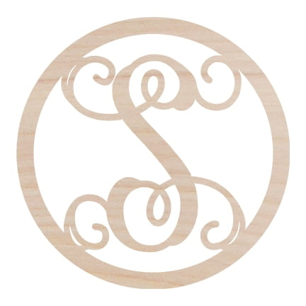 Circle Design Wood Monogram-Wood Monograms-Shop-Absolute Paris Boutique-Womens-Clothing-Store