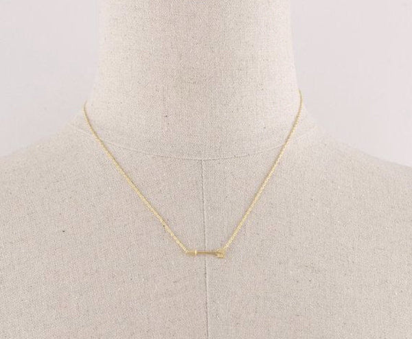 Arrow Necklace: available in silver, gold, and rose gold.-Necklace-Shop-Absolute Paris Boutique-Womens-Clothing-Store