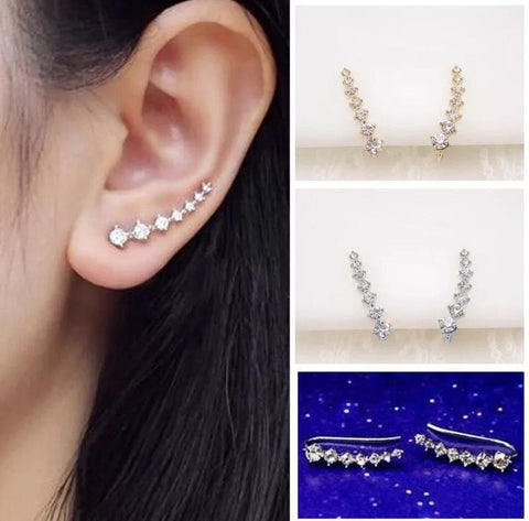 Rhinestone Ear Climbers-Earrings-Shop-Absolute Paris Boutique-Womens-Clothing-Store