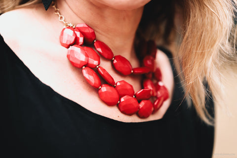 Helen Triple Strand Statement Necklace-Necklace-Shop-Absolute Paris Boutique-Womens-Clothing-Store