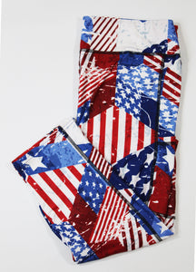 Patriotic capri legging with pockets-Full-Shop-Absolute Paris Boutique-Womens-Clothing-Store