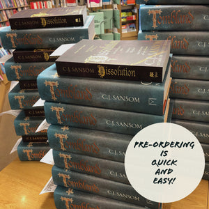It's here!  Tombland by CJ Sansom has arrived...
