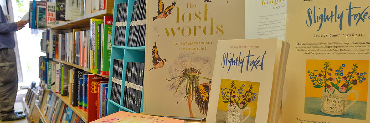 the lost words and other books inside the Harbour Bookshop