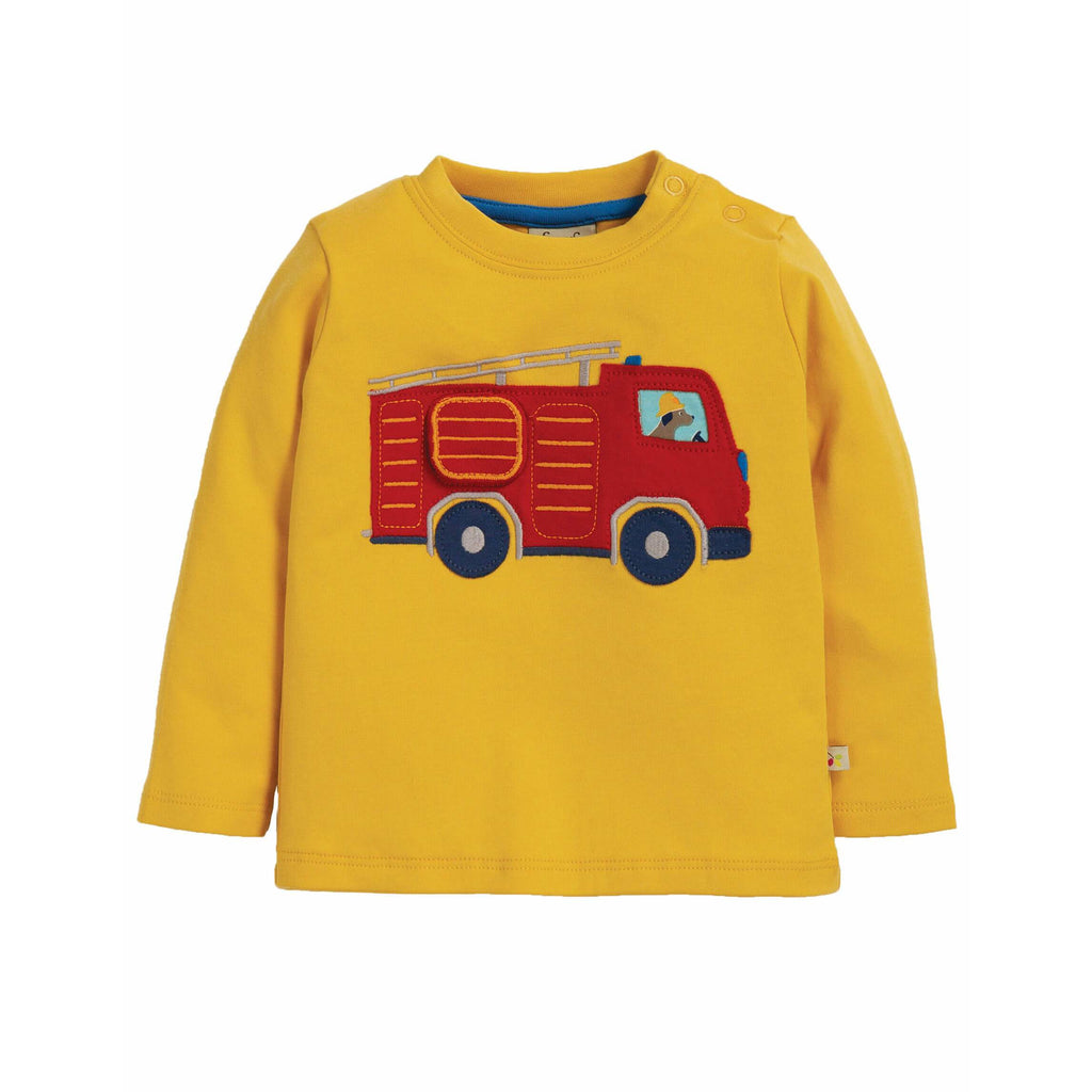 Bluza Frugi Ira Interactive Applique Top din bumbac organic, Bumble Bee Engine