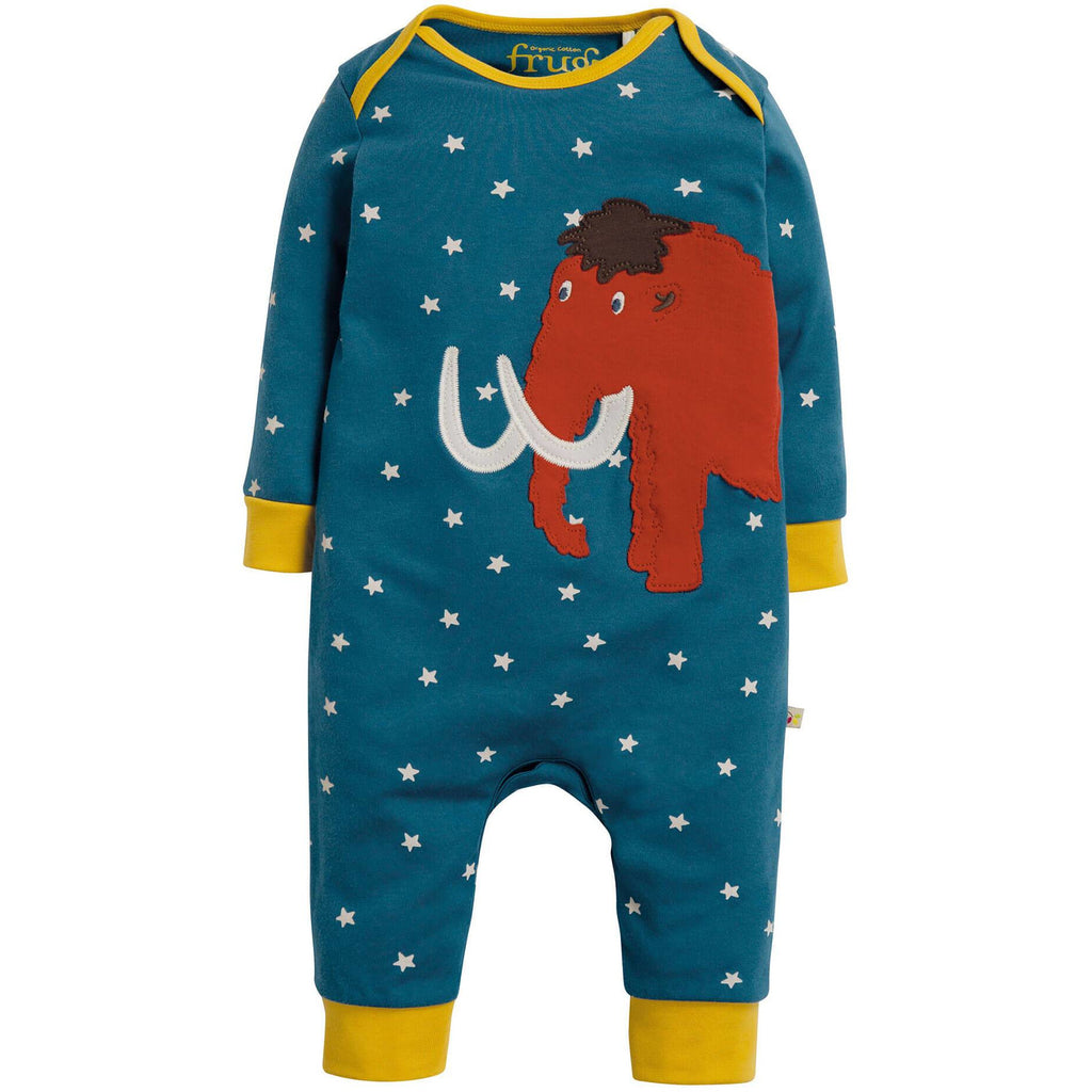 Pijamale Frugi Charlie Steely Blue Star din bumbac 100% organic, Mamut