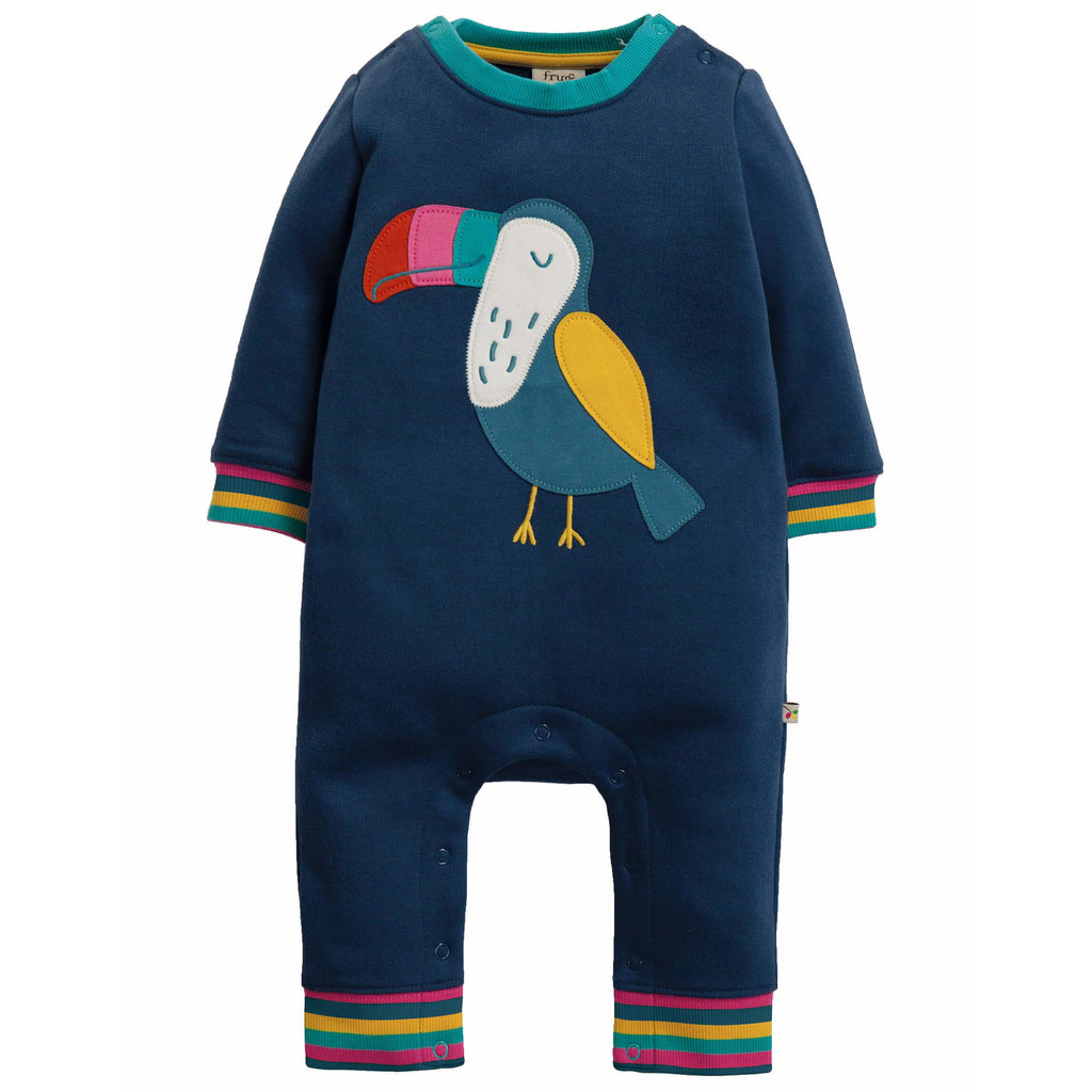 Romper Frugi Snug and Cozy din bumbac 100% organic, Toucan