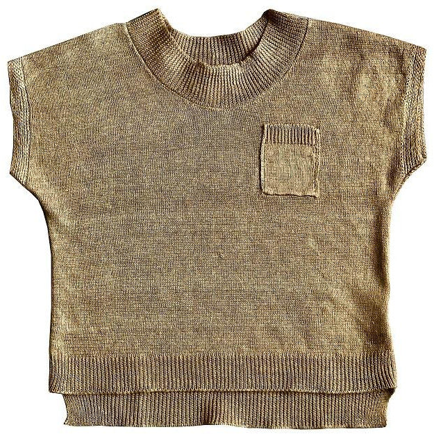 Tricou Deryn Mabli Knits din in organic, Honey