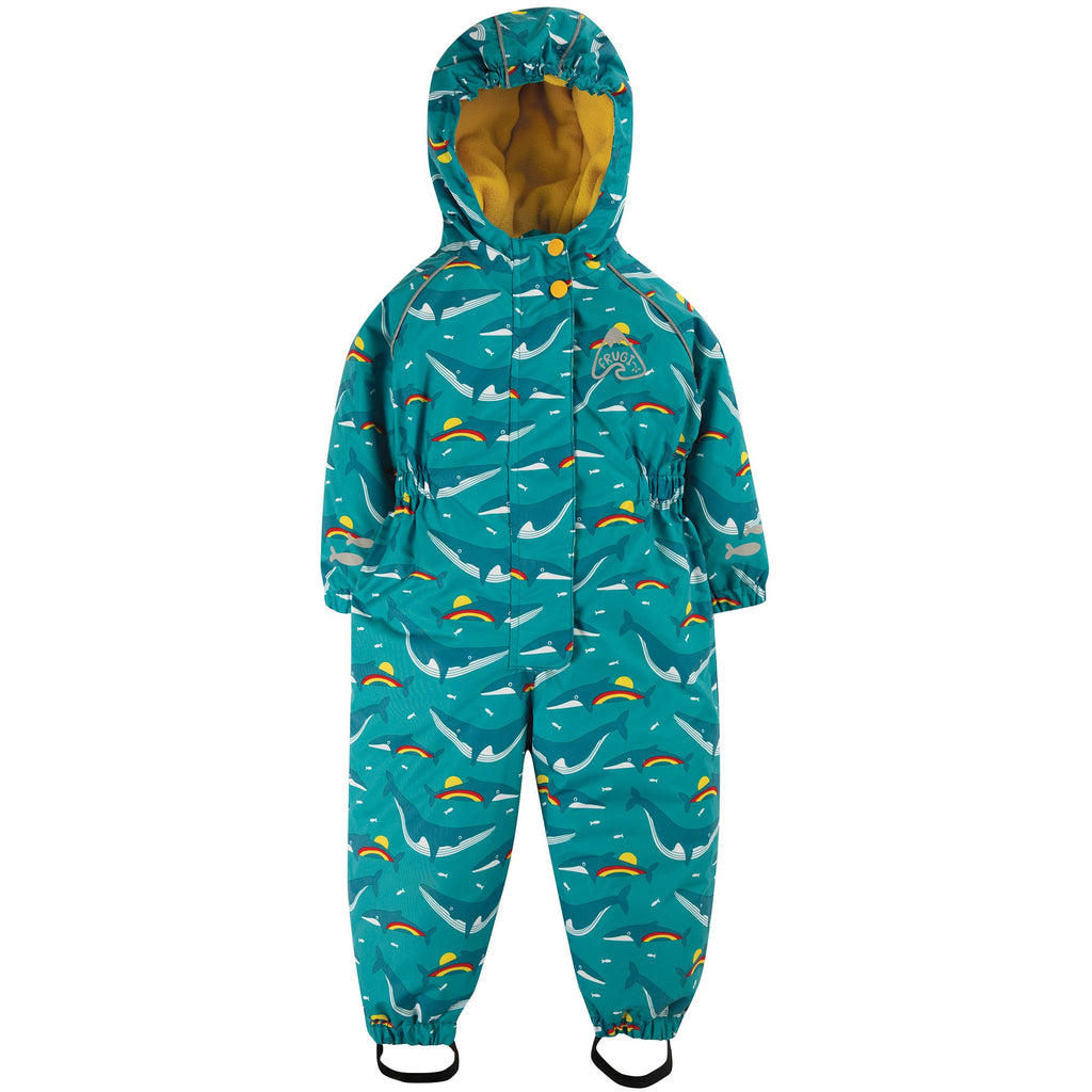 Salopeta copii de ploaie impermeabila We Love Frugi, Rainbow Whales