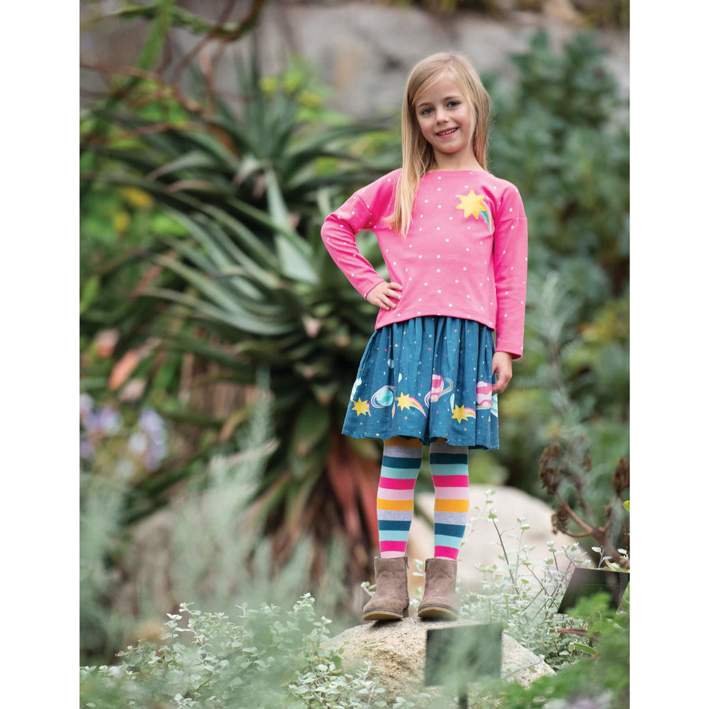 Fusta Frugi Twirly Dream din bumbac organic, Space Voyage