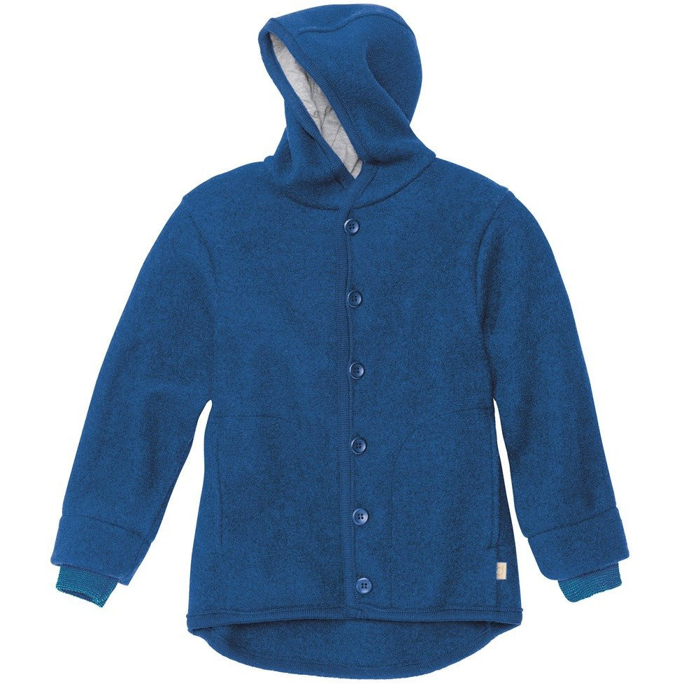 Jacheta copii Disana lana organica boiled wool - Navy