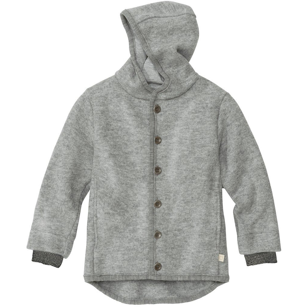 Jacheta copii Disana lana organica boiled wool - Grey