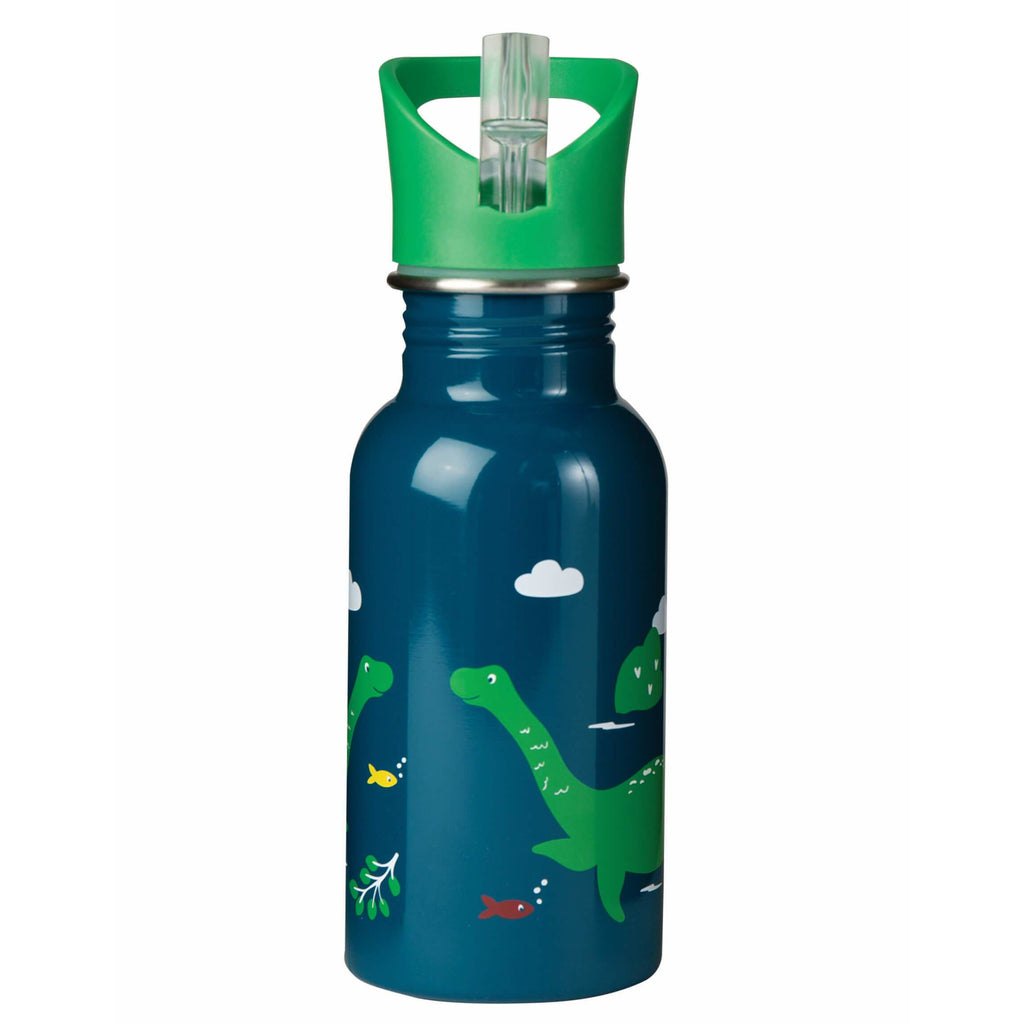 Bidon pentru lichide din inox Frugi Splish Splash 400 mL, Nessie