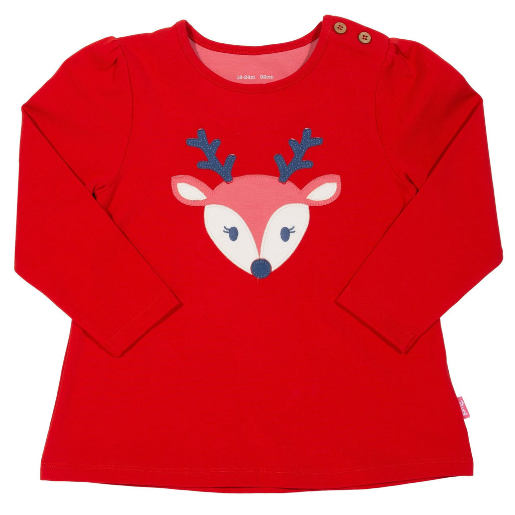 Tunica copii din bumbac organic Kite Clothing, Reindeer