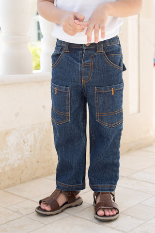 Boy's Topstitched Cargo Pants