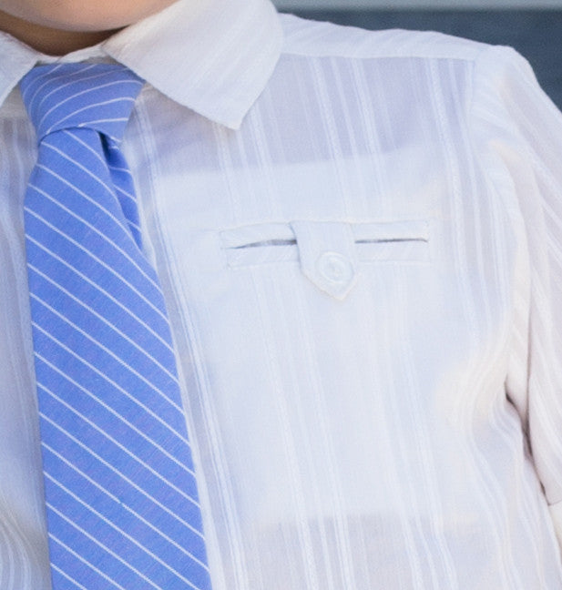 Boy's Casual Shirt with Detachable Tie