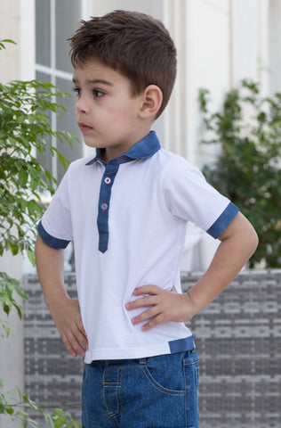 Boy's Layered Polo Shirt
