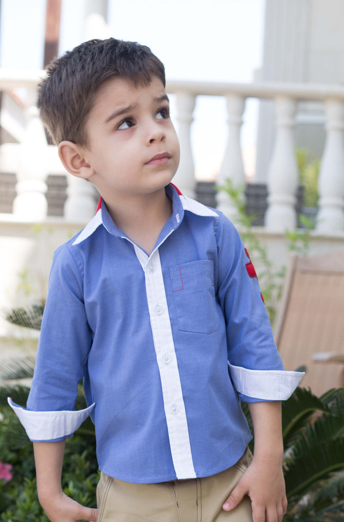 Boy's Buttondown Shirt with Contrast Collar